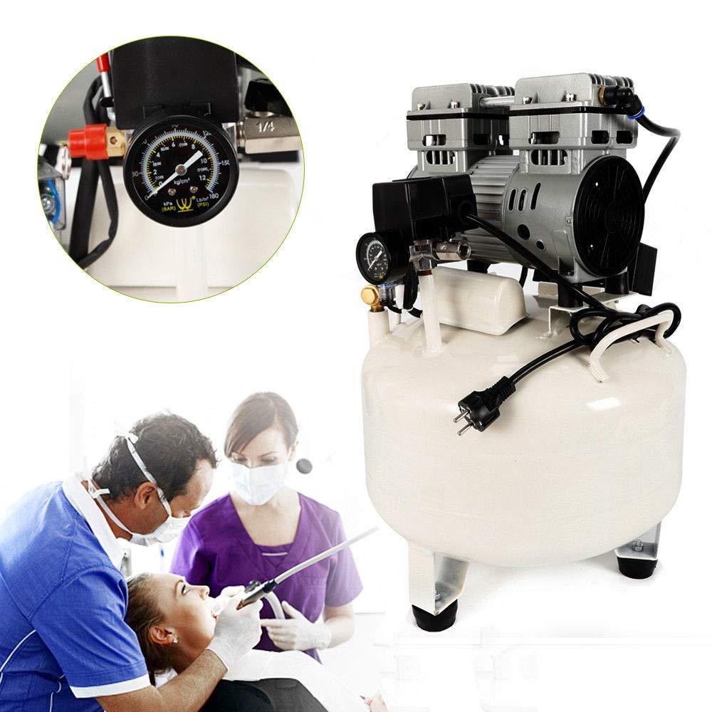 SENDERPICK 850W 35L compressore ad aria compressa ad aria compressa dentista silenzioso senza asciugatrice senza olio senza olio con manometro