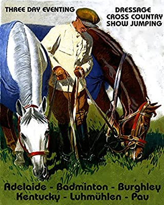 "16"" X 20"" Horse Eventing Dressage Jumping Adelaide Badminton Burghley Kentucky Vintage Poster Repro Standard Image Size for Framing. We Have Other Sizes Available!"