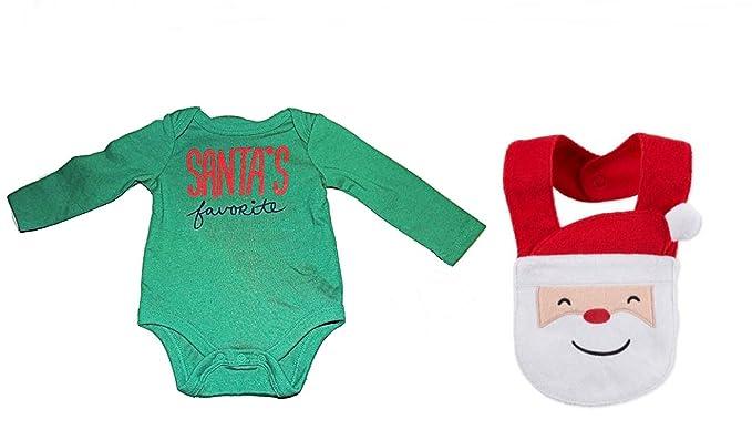 b4930dd99d5f Amazon.com  Santa s Favorite Infant Long Sleeve Bodysuit Plus Santa ...