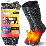 Fleeze Socks, Three street Thick Heat Insulated Heated Boot Thermal Socks Warm Winter