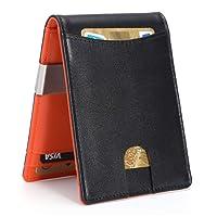 Kinvac RFID Blocking Money Clip Wallet-Mens Wallets Slim Front Pocket RFID Blocking Card Holder Minimalist Mini Wallet for Men