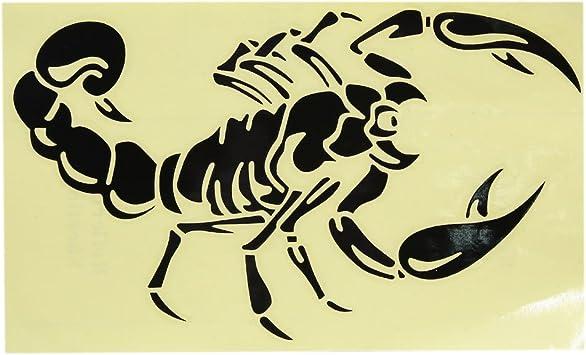 Sourcing Map 2stk Skorpion Muster Selbstklebende Auto Reflektierende Folie Aufkleber Schwarz De De Auto