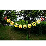 Floralby Cartoon Emojis Birthday Banners Paper Bunting Flags Indoor Outdoor Party Decorations