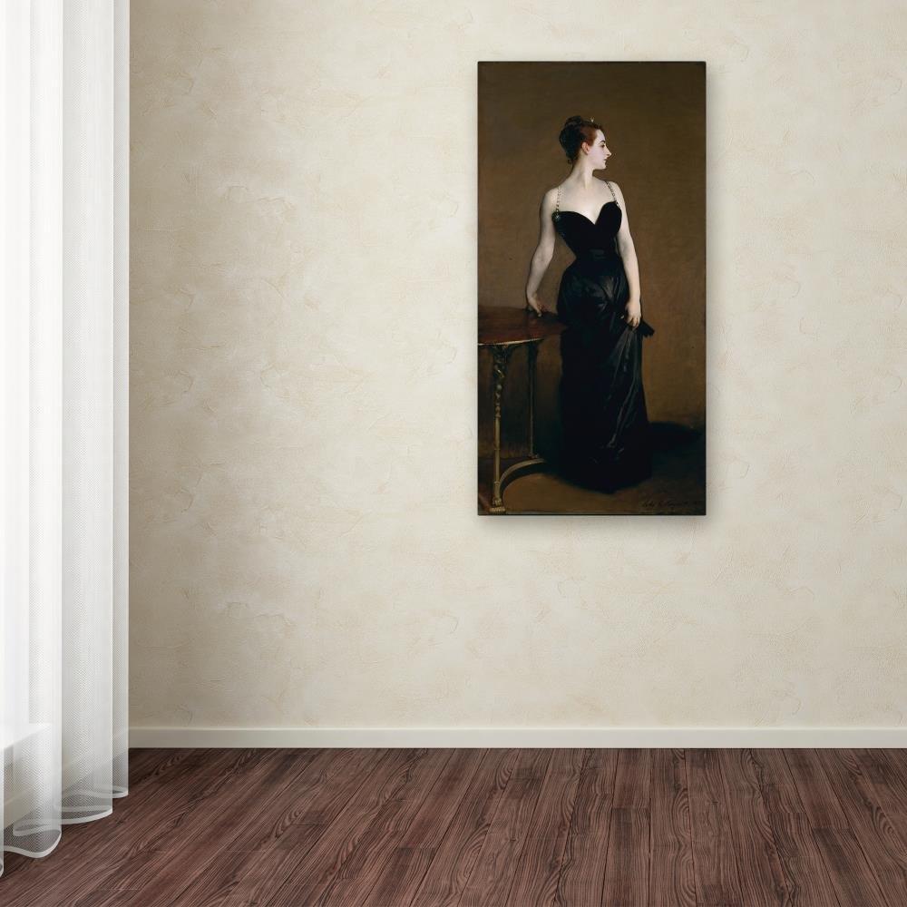 Madame Pierre Gantreu by John Singer Sargent, 24×47-Inch Canvas Wall Art