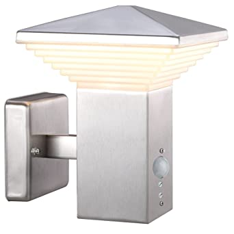 Jardin de 11 Watt LED extérieur acrylique du inox lampe de mur mat ...