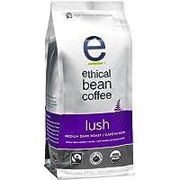Ethical Bean Fair Trade Organic Coffee, Lush Medium Dark Roast, Whole Bean Coffee  - 340g (12oz) Bag