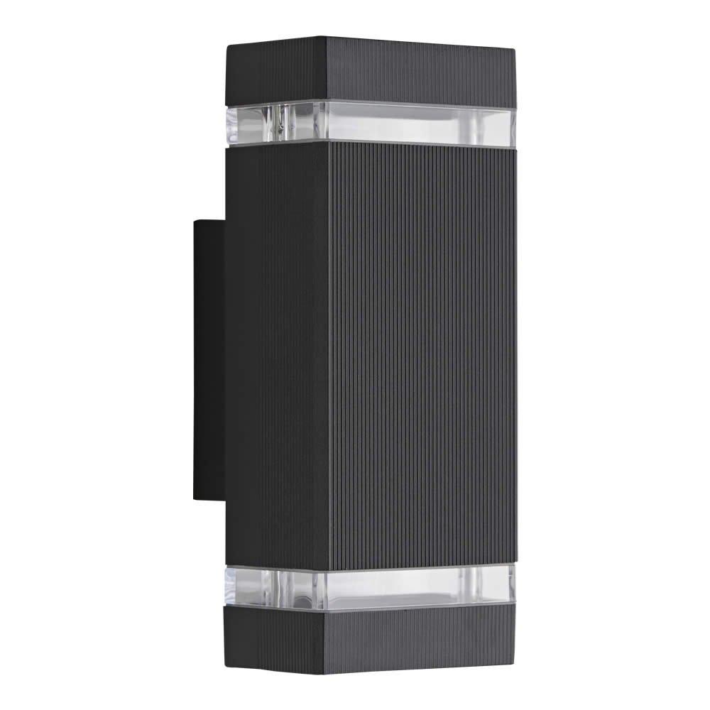 Biard - Applique Extérieure Murale LED GU10 - Double Faisceau - Design Rectangulaire Noir product image