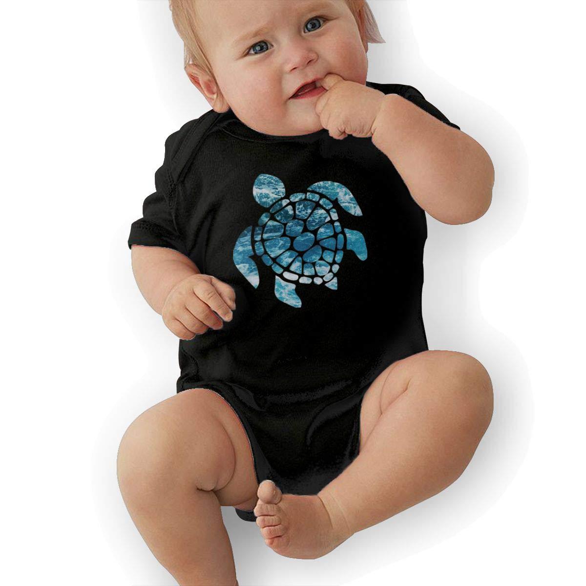 Sea Turtle Newborn Baby Short Sleeve Romper Infant Summer Clothing