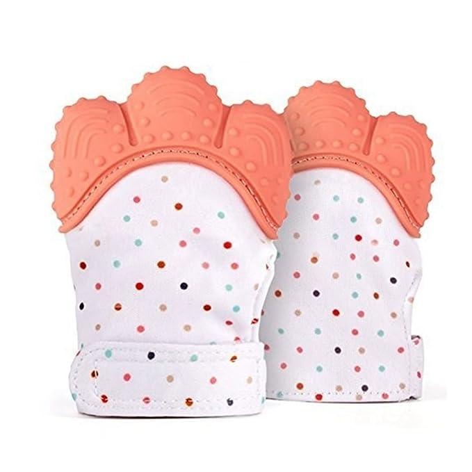 d0167c91c3a6 TOOGOO produits de bebe, gants molaires en silicone pour les bebe de la  couleur orange, gants molaires de voix, baton molaire  Amazon.fr  Bébés    ...