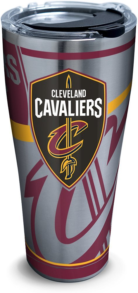 Silver Tervis 1280919 NBA Cleveland Cavaliers Paint Stainless Steel Tumbler With Lid 30 oz