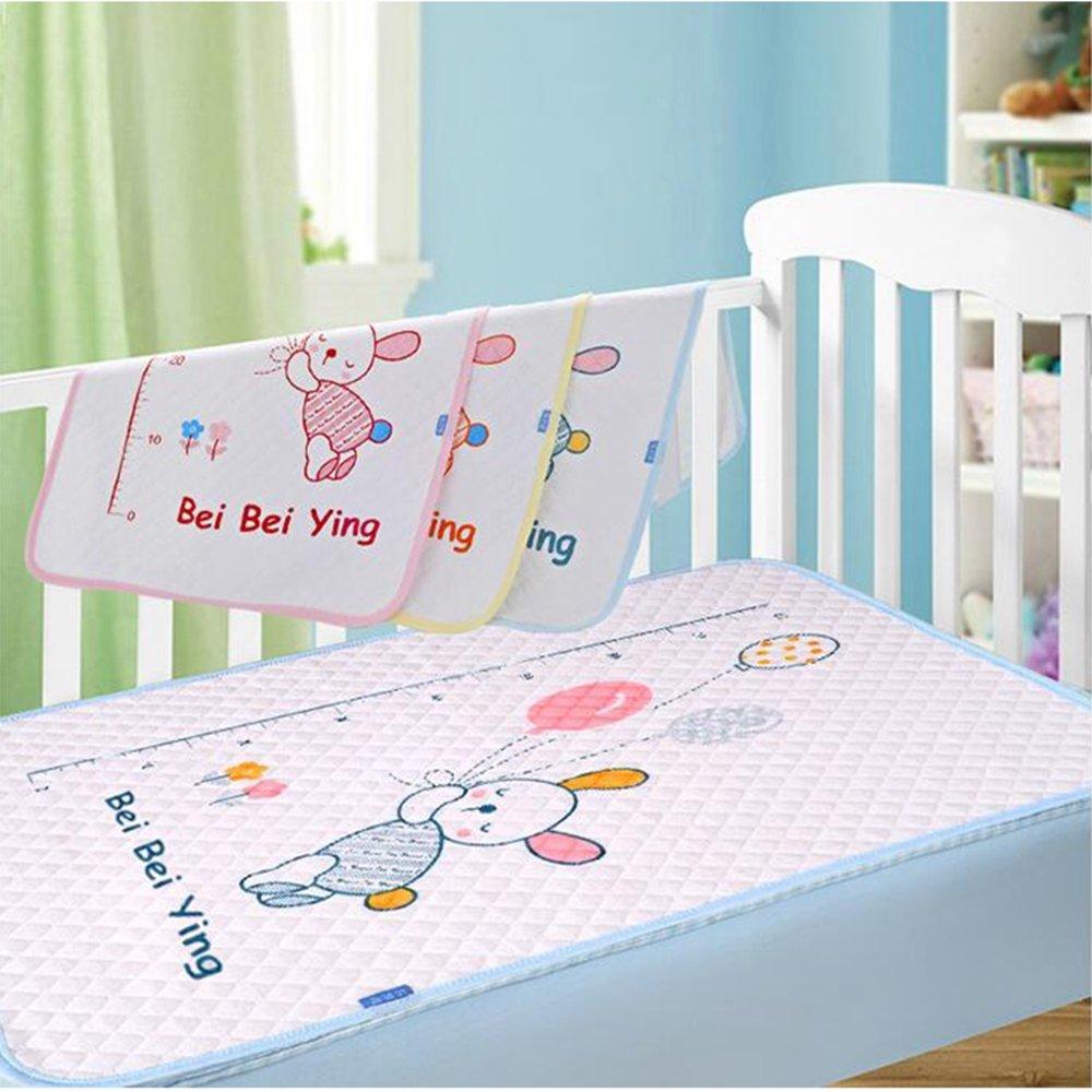 JanLEESi Baby Bed Mattress, Waterproof Changing Pad, Soft Cotton 1-Pack Isolation Crib Mattress, Large W007