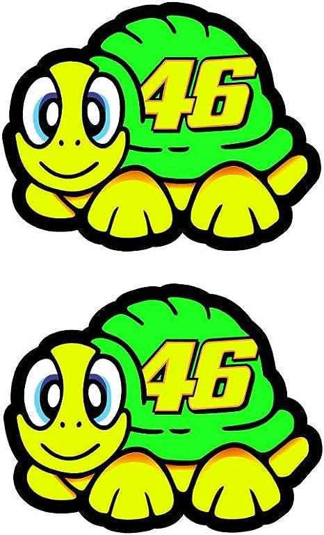 Valentino Rossi Aufkleber Schildkröte 2012 Vinyl Aufkleber 5cm X 2 Auto