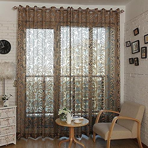 Top Finel Transparente Geometrische Muster Gardinen Wohnzimmer ...
