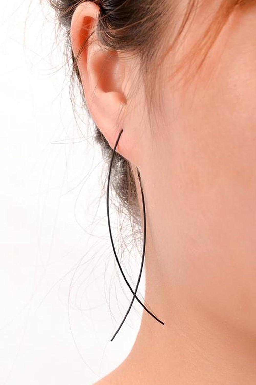 Scrox 1 Pair Fashion Earrings Shiny Elegant Silver Earrings Women Girls Earrings Ear Studs Beautiful and charming Jewelry Accessories Gift Design Personality Earring