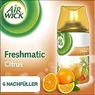 Air Wick Freshmatic Max Nachfüller Duo Citrus, automatisches Duftspray, Nachfüller für automatischen Lufterfrischer, 6 x 250ml