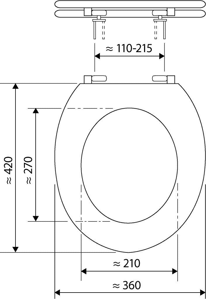 Abattant WC en plastique avec charni/ère m/étallique Motif plage