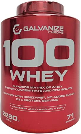 GALVANIZE NUTRITION PROTEINA 100 WHEY 2280 GRS Fresa con Chocolate Blanco