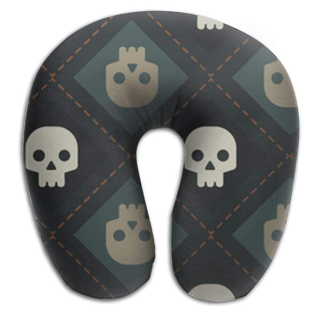 Rghkjlp Skeleton King U Shaped Neck Pillow Memory Foam Pillow Unisex11