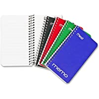 Small Spiral Notebooks, Pocket Notebook, Home School Mini Note Pads, 8 Pack 60 Sheets, Assorted Colors (5-Inch x 3-Inch)