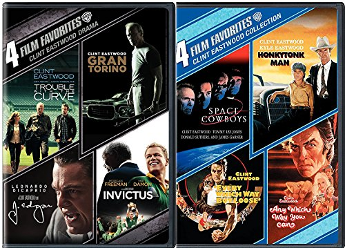 Clint Eastwood 8 Film Favorites Space Cowboys / Honkytonk Man / Every Which Way But Loose / Any Which Way You Can DVD + Trouble with the Curve, Gran Torino, J. Edgar, Invictus Feature movie set