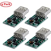 TeOhk 4 Pcs USB DC-DC Converter 2V a 5V 1200MA Step Up Power Module per Arduino DIY