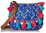 Kanvas Katha Women's Sling Bag (Blue) (KKMTRI004)