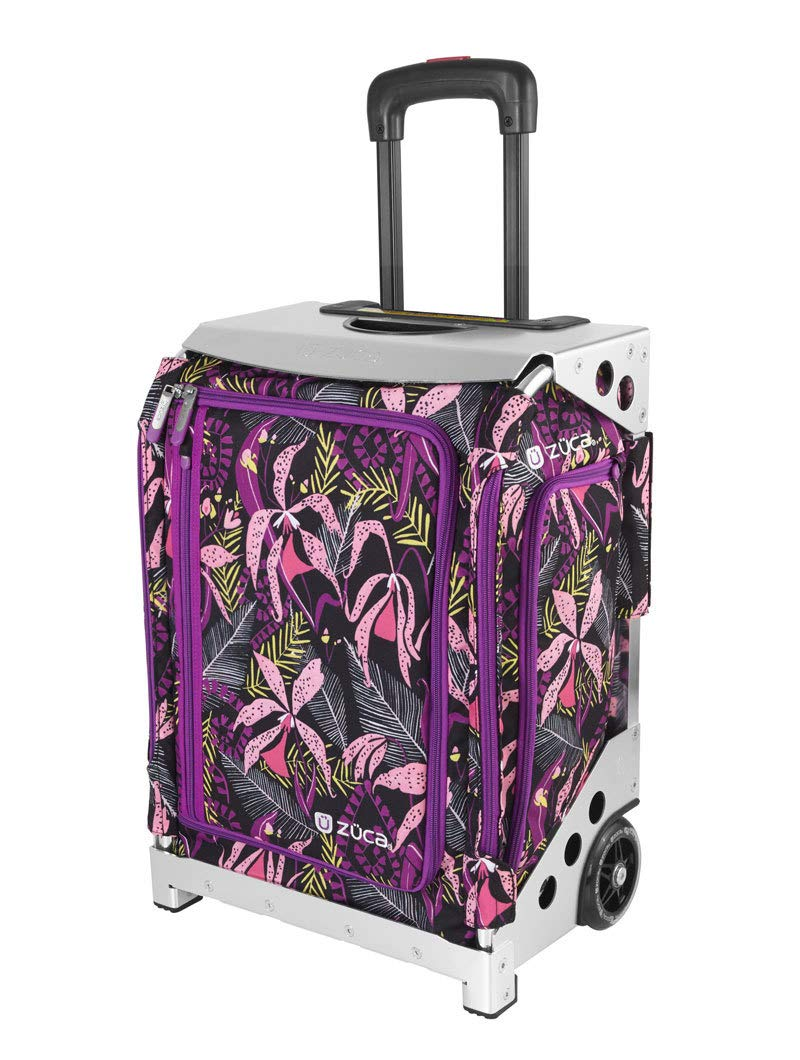 ZUCA Navigator Carry-On Bag with Built-in Seat, Wild Orchid, Silver Frame