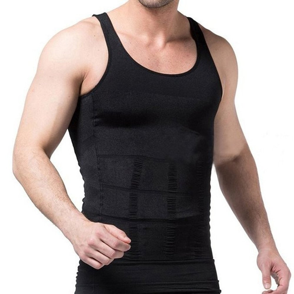 8e5c2bd535196 Slimming Men Vest Fitted Weight Loss Shaper Vest Cotton Underwear Compression  Shirt Tank Top S-XXXL  Amazon.co.uk  Clothing