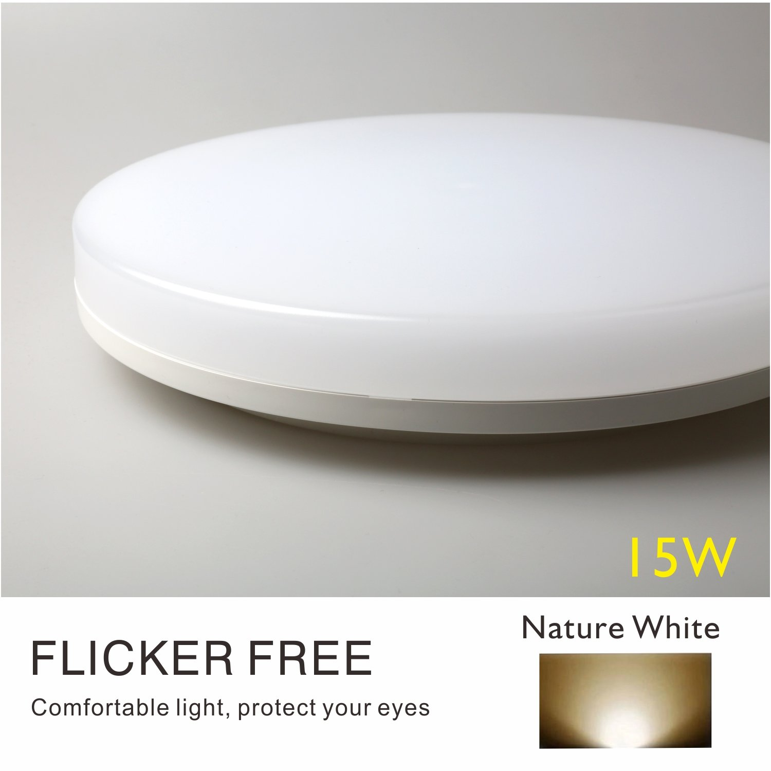 ClayLight LED Ceiling Light Bulkhead 18W 1500LM Warm White(3000K) IP44 Moisture-Proof for for Bathroom, Kitchen Delivery from UK Luccalightcoltd