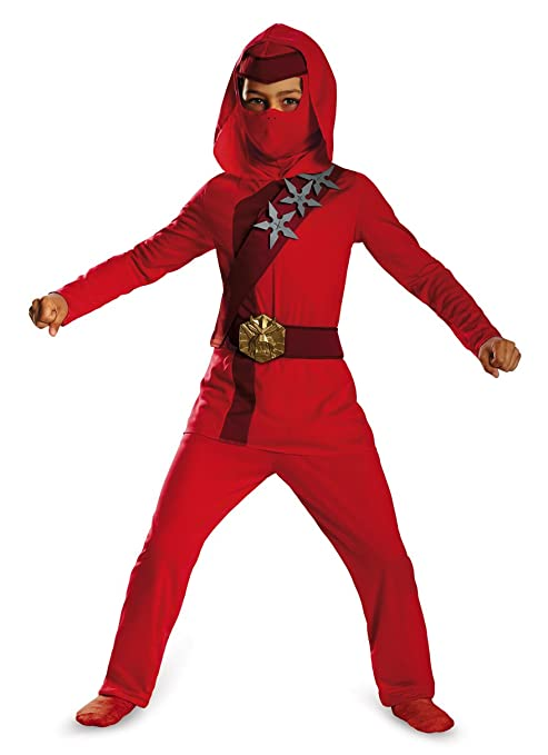Shadow Ninja Red Fire Ninja Classic Boys Costume, One Color, 4-6