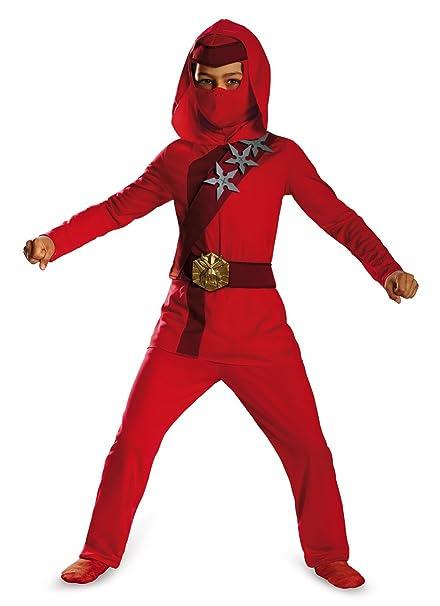 Shadow Ninjas Uprising Rojo Fire Ninja Classic Child Disfraz ...