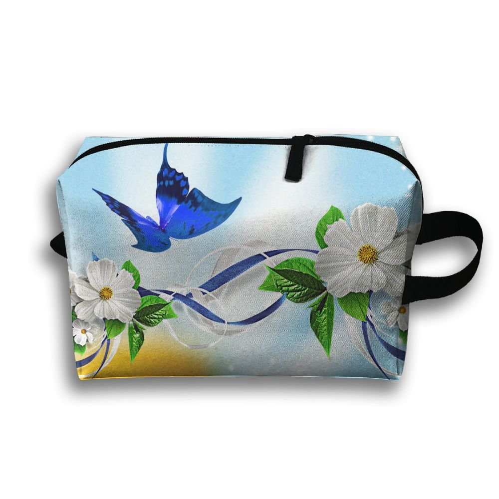 Low Cost Michgton Cosmetic Bag Butterfly Flower Women Kawaii 3d Tumi Alpha Leather Organizer Travel Clutch In Black Premium Quality Printing Multifunction Makeup Case