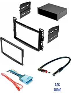 asc stereo dash kit, wire harness, and antenna adapter for some chevrolet:  2005