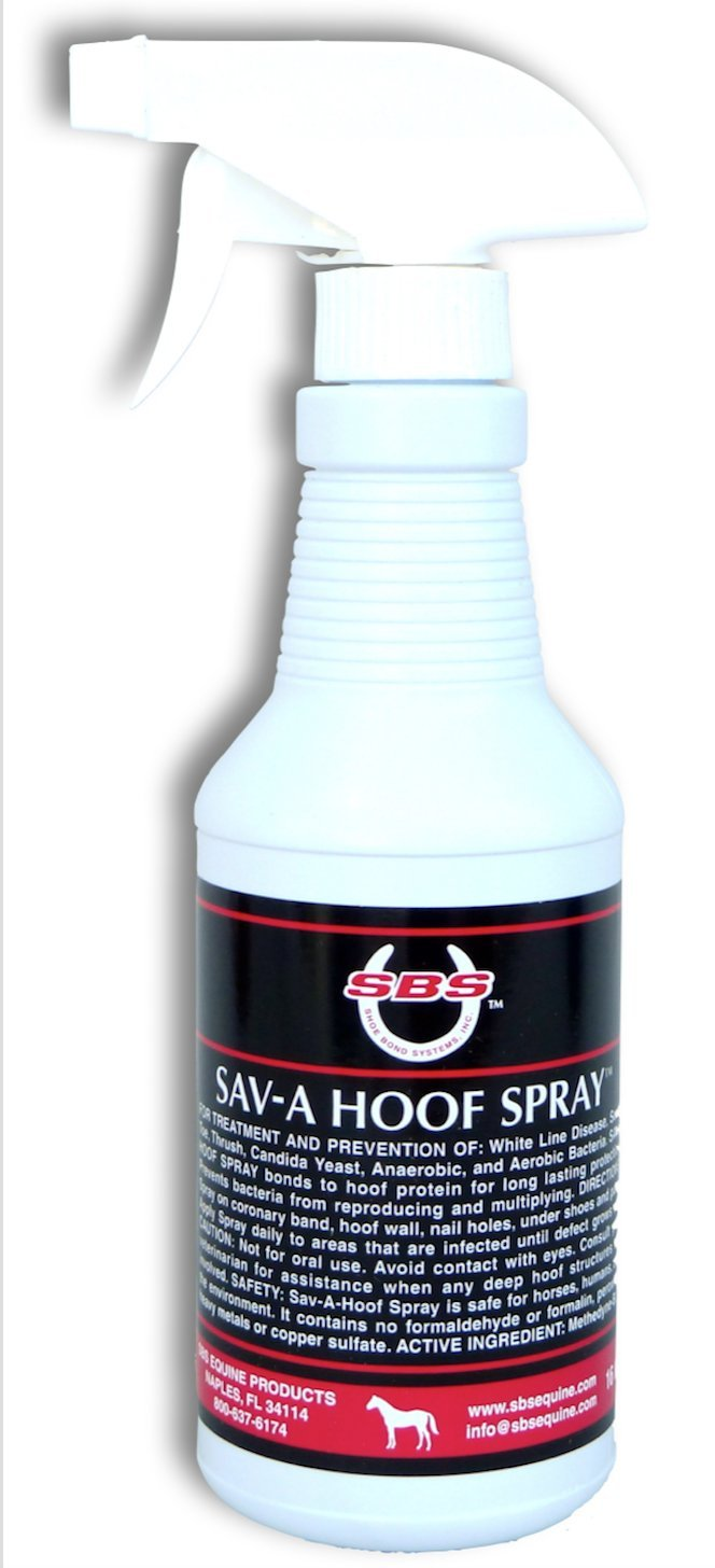 SBS Equine Item 316 hoof Treatment, 16 fl. Oz. Spray by SBS EQUINE Sav-A-Hoof Spray, Item 316, 16 fl. oz.