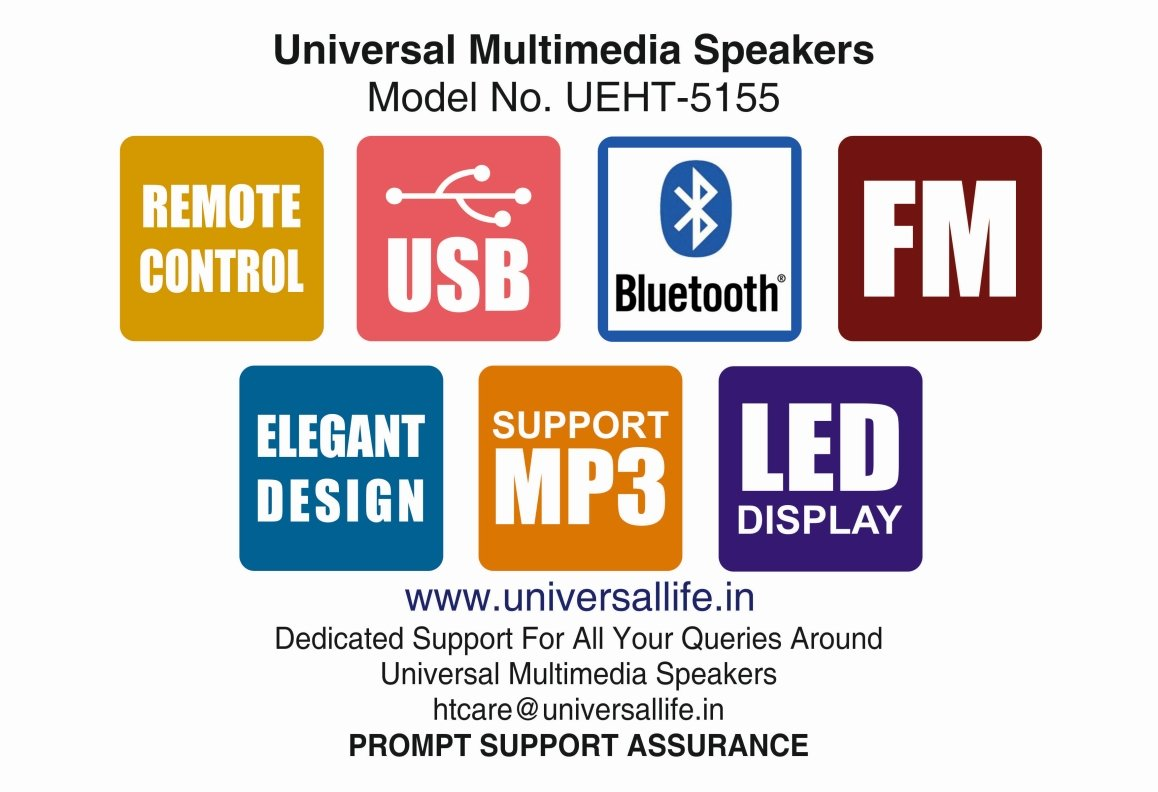 Universal Ht 5155bt 51 Multimedia Speakers Built In With Home Appliances Remote Control Circuit Diagram Automotive Bluetooth Digital Fm And Usb Sd Card Reader Price Buy