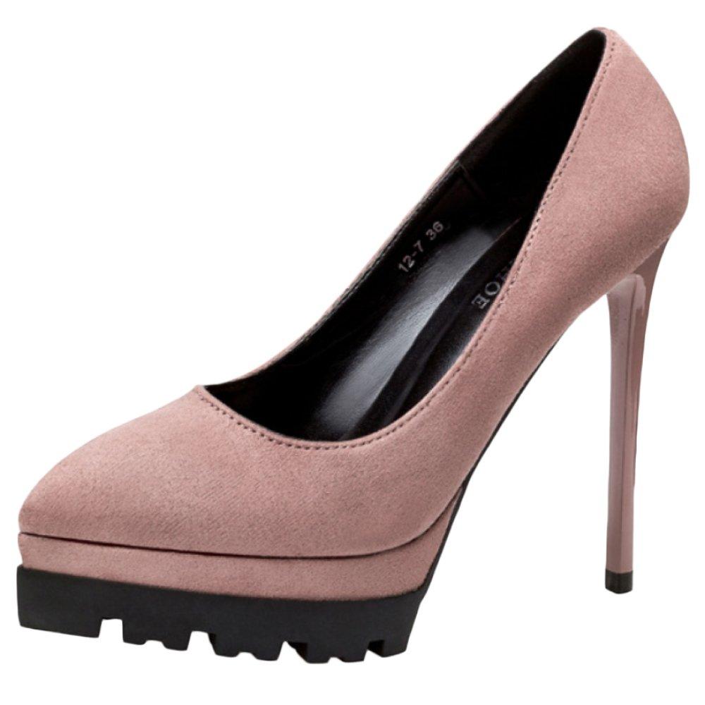 WKNBEU Mesdames Noir en Rose Rouge Sexy en B07BLHYX2Q Daim Stiletto Pink Travail Dansant Barre Ultra-Haut Talons Sandales Pink 3d0a543 - robotanarchy.space