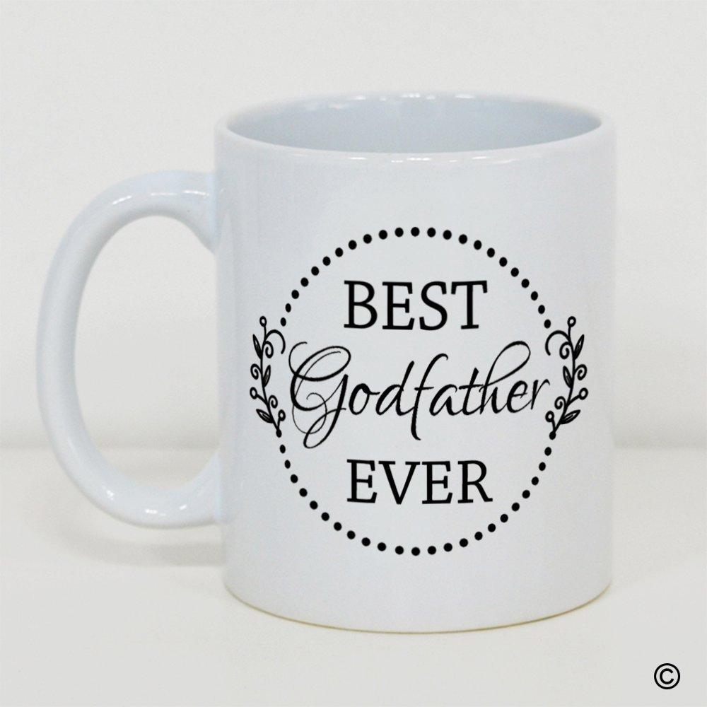 MSMR面白いホワイトマグカスタムホワイトコーヒーマグ – Best Godfather Ever – 11オンスセラミックコーヒーマグティーカップ B06XT5XG7L