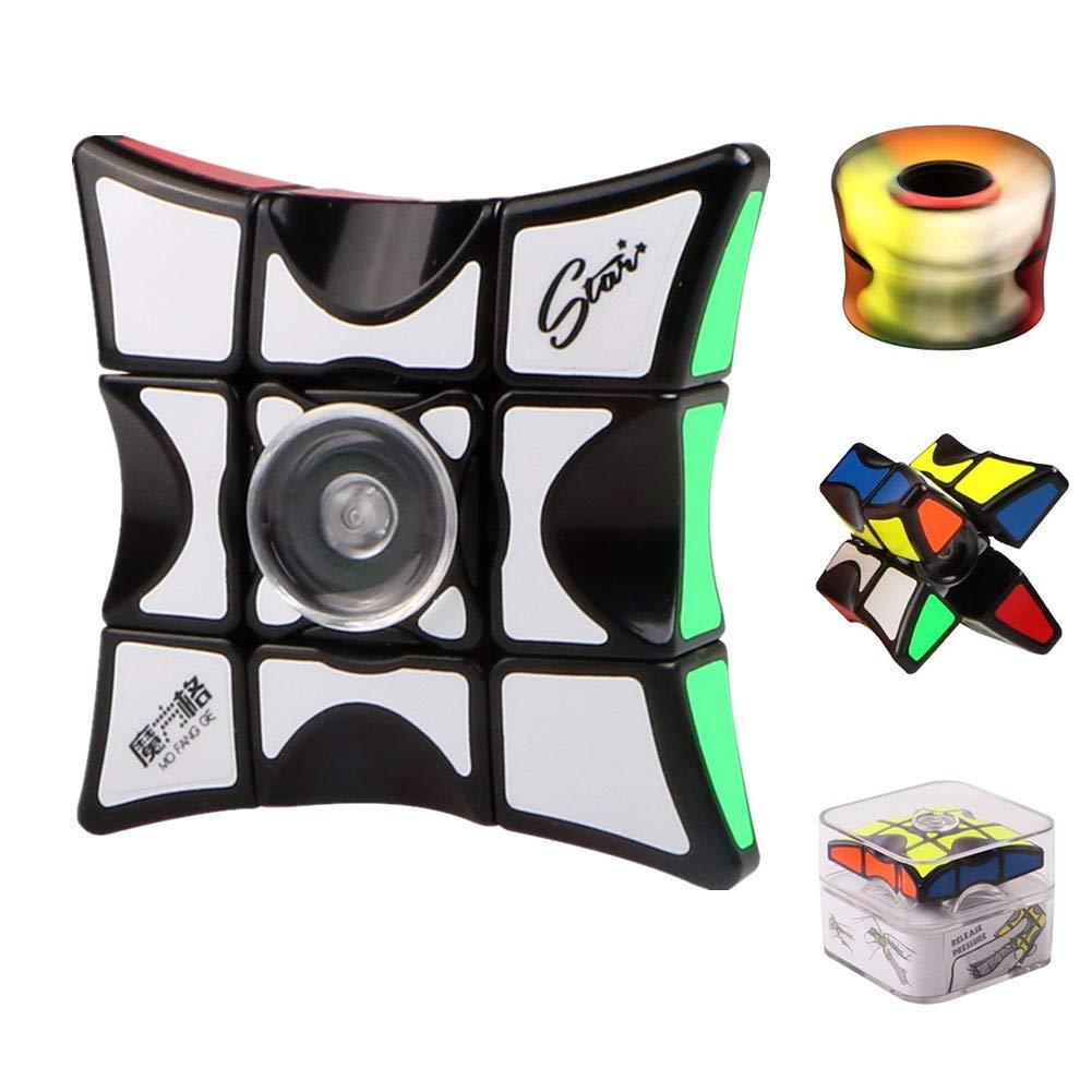 Fidget Spinner Cube, Nuova Versione 1x3x3 Floppy Cube Puzzle Spinner Anti Ansia Agitarsi Giocattoli, Finger Spinner Allevia Lo Stress e l'ansia Focus Giocattoli per Adulti Bambini