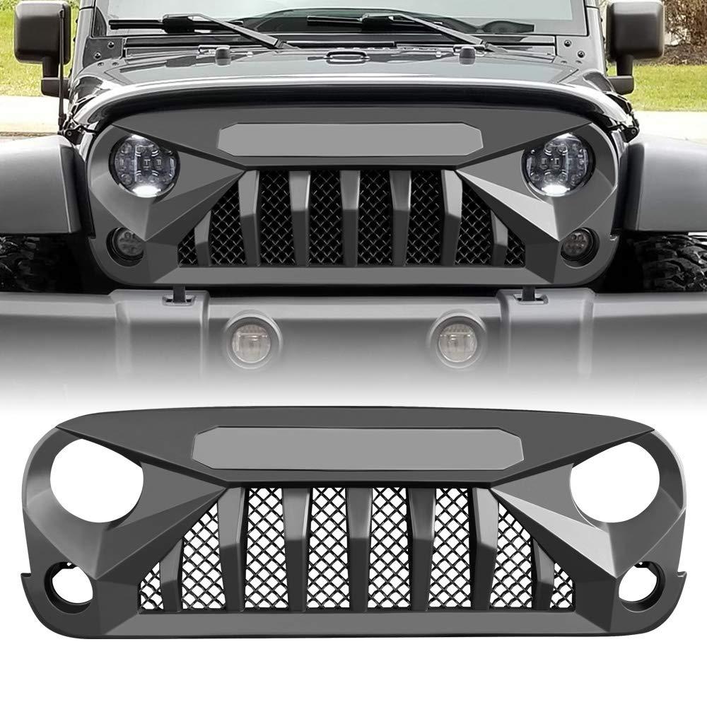 Xprite Black Passenger Side Grab Handle Storage Tray Organizer for 2011-2018 Jeep Wrangler JK//JKU Rubicon Sahara Sport