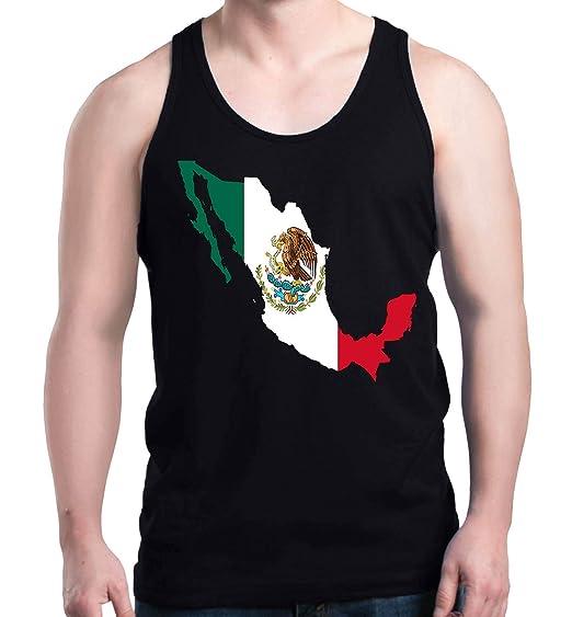 44de89875b952 Shop4Ever Mexico Map Flag Men s Tank Top Cinco De Mayo Tank Tops Small  Black 0