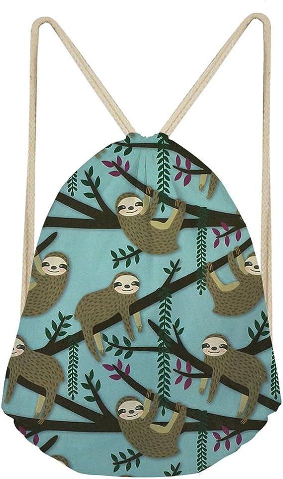 Gym Vacation Travel Duffel Bag Lazy Cute Sloth Waterproof Lightweight Luggage bag for Sports
