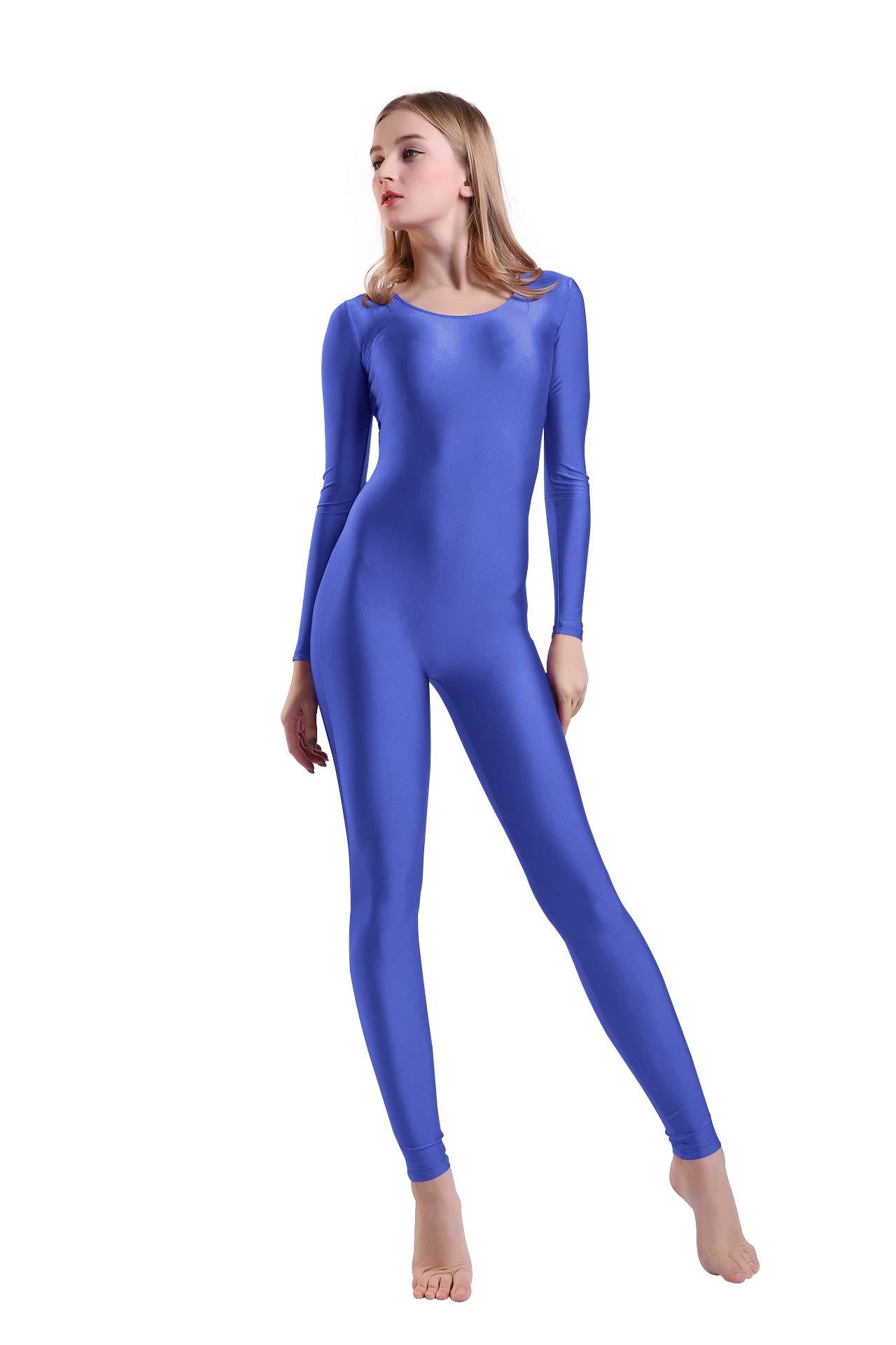 Kepblom Women's Long Sleeve Scoop Neck Unitard Spandex Bodysuit for Dance Gymnastic Costume by Kepblom