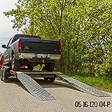 """120"""" x 16"""" Aluminum 5,000 lb Car Trailer Ramps"""