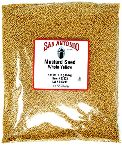 16 Ounce Premium Whole Yellow Mustard Seed (1 Pound Bulk Seeds)