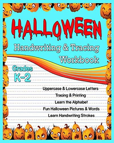 Halloween: Handwriting & Tracing Workbook: Lowercase and Uppercase  Tracing Words and Alphabet -