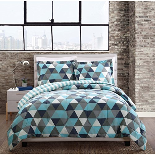 Style 212 Comforter Mini Set, Full/Queen, Madison - Geometric Triangle