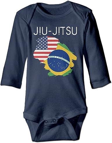 Mri-le1 Baby Girl Bodysuits JIU Jitsu Brazilian JIU Jitsu Baby Rompers