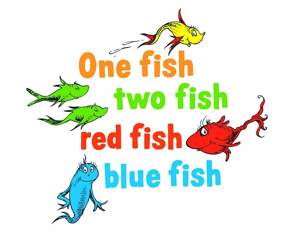 Amazoncom Graphique Home Decal Dr Seuss One Fish Two Fish