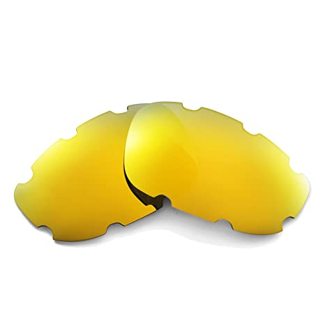 e02302e4654 Walleva Replacement Vented Lenses for Oakley Split Jacket Sunglasses -  Multiple Options Available (24K Gold