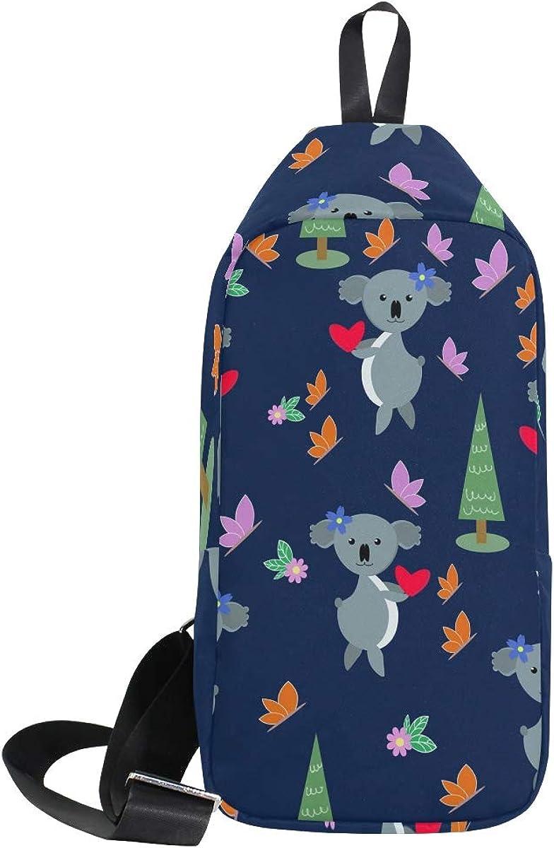 TFONE Cute Animal Pattern Crossbody Bag Lightweight Chest Shoulder Messenger Pack Backpack Sling Bag
